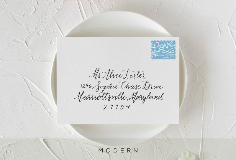 Modern Style Envelope Calligraphy